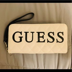 Guess Zippered Wallet with removable strap